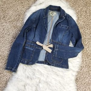 Old Navy Jean Jacket With Front Tie Size M
